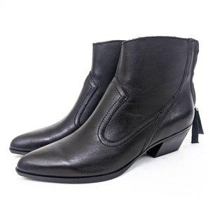 Naturalizer Wallis Leather Ankle Booties 6 Black